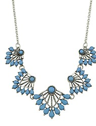 cheap -Women's Flower Imitation Tourmaline Pendant Necklace  -  Basic Fashion Blue Necklace For Daily New Year