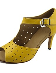 abordables -Femme Chaussures Latines Similicuir / Tulle Sandale / Talon Professionnel Points Polka Talon Personnalisé Personnalisables Chaussures de