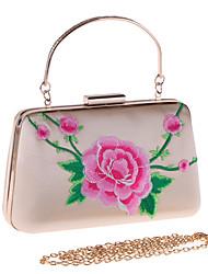 Недорогие -Мешки Полиэстер Вечерняя сумочка Вышивка для Свадьба / Для праздника / вечеринки Красный / Розовый / Миндальный