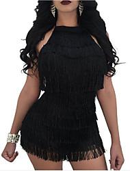 abordables -Mujer Discoteca Vaina Vestido - Espalda al Aire, Color sólido Alta cintura Sobre la rodilla Halter