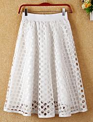 preiswerte -Damen Einfach Schaukel Röcke - Solide