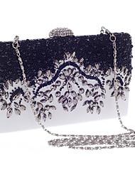 Недорогие -Жен. Мешки Полиэстер Вечерняя сумочка Кристаллы Белый