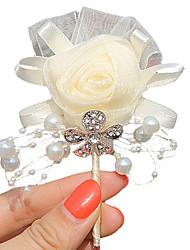 abordables -Fleurs de mariage Boutonnières Mariage Soirée / Fête Satin 7cm