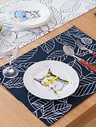 cheap -Ordinary Linen/Cotton Blend Square Placemat Table Decorations