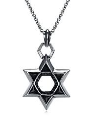Недорогие -Муж. Ожерелья с подвесками - Нержавеющая сталь Звезда Классический, Мультяшная тематика Серебряный Ожерелье 1 Назначение Официальные, Новый год