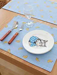 abordables -Motifs Métissé Polyester/Lin Carré Sets de table Décorations de table
