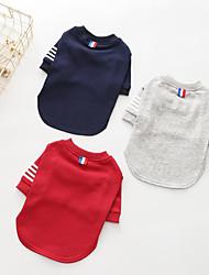 preiswerte -Hunde Pullover Hundekleidung Ordinär Lässig/Alltäglich Solide Gestreift Grau Rot Blau Kostüm Für Haustiere