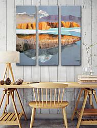 baratos -Estampados de Lonas Esticada Modern, 3 Painéis Tela de pintura Vertical Estampado Decoração de Parede Decoração para casa