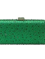 Недорогие -Жен. Мешки Полиэстер Вечерняя сумочка Кристаллы Лиловый / Желтый / Пурпурный