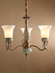 cheap -Antique Artistic Mini Style Chandelier Uplight For Living Room Dining Room 220-240V 110-120V 750lm Bulb Included