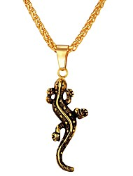 abordables -Homme Forme Animaux Cool Pendentif de collier , Acier inoxydable Pendentif de collier Quotidien Plein Air