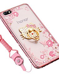cheap -Case For Huawei Shockproof Rhinestone Ring Holder Back Cover Cartoon Soft Silicone for Huawei Honor 4X