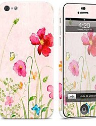 cheap -1 pc Skin Sticker for Scratch Proof Flower Pattern PVC iPhone 5c