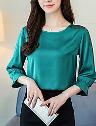 cheap -Women's Silk Polyester T-shirt - Solid