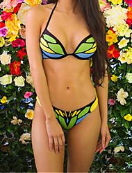 abordables -Femme Basique A Bretelles Bikinis Couleur Pleine / Sexy