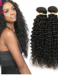 abordables -4 paquetes Cabello Peruano Kinky Curly Cabello humano Tejidos Humanos Cabello Cabello humano teje Extensiones de cabello humano / Kinky rizado