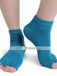 Недорогие -Жен. Носки Носки с пальцами Нескользящие носки Спортивные носки Йога Пилатес Пригодно для носки Дышащий Анти-скольжение Удобный Защитный
