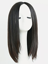 cheap -Synthetic Wig Straight Layered Haircut Synthetic Hair Natural Hairline Black Wig 13cm(Approx5inch) Capless