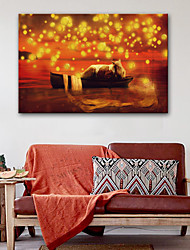 Недорогие -Отпечатки на холсте Винтаж Modern, 1 панель холст Горизонтальная С картинкой Декор стены Украшение дома