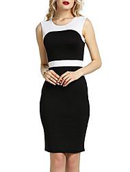 economico -Per donna Taglia piccola Fodero Vestito - Basic, Monocolore