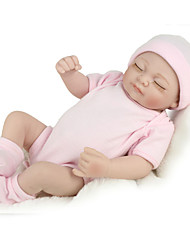 cheap -NPK DOLL Reborn Doll Baby 12 inch Full Body Silicone / Silicone / Vinyl - lifelike, Hand Applied Eyelashes, Tipped and Sealed Nails Kid's Girls' Gift / CE Certified / Natural Skin Tone