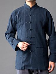Majica s rukavima Muškarci Jednobojni Ruska kragna Lan