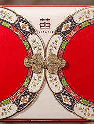 Недорогие -Открытка-карман Свадебные приглашения 20 - Пригласительные билеты Классический Тиснённая бумага Рельефный