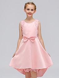 cheap -Girl's Solid Dress, Cotton Summer Sleeveless Cute Casual Blue Blushing Pink