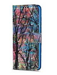 preiswerte -Hülle Für Samsung Galaxy S9 S9 Plus Kreditkartenfächer Geldbeutel mit Halterung Flipbare Hülle Magnetisch Ganzkörper-Gehäuse Baum Hart