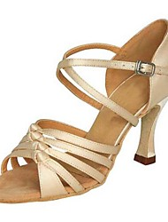 abordables -Femme Chaussures Latines Satin Sandale / Talon Professionnel Talon Personnalisé Personnalisables Chaussures de danse Chameau
