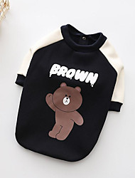 cheap -Dogs Sweatshirt Dog Clothes Bear Blue Cotton Costume For Pets All Cute Style Warm Ups