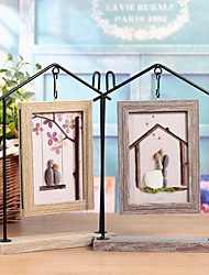 cheap -Non-personalized Metalic / Wood Photo Frames Couple / Friends Wedding / Birthday -