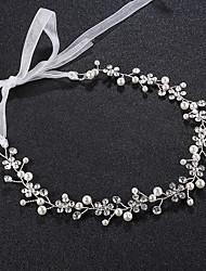 baratos -Pérola / Strass Headbands com Pedrarias / Pérolas 1pç Casamento / Roupa Diária Capacete