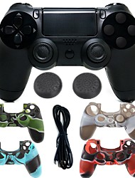 cheap -Wireless Bluetooth Game Controller Gamepad Controller Joystick Gamepads with Silicone case for PS4