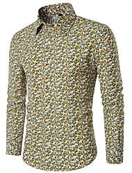 cheap -Men's Shirt - Geometric Print / Long Sleeve