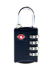 cheap -the customs code locks 4 boxes of travel bag password padlock metal four lock tsa309