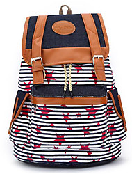 preiswerte -Damen Taschen Leinwand Rucksack Knöpfe für Normal Draussen Frühling Herbst Blau Schwarz Rosa