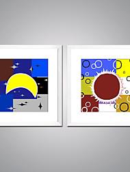 Недорогие -Отпечатки на холсте Современный, 2 панели холст Квадратный С картинкой Декор стены Украшение дома