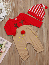 abordables -bébé Une-Pièce Unisexe Sports Vacances Imprimé Coton Printemps Eté simple Mignon Rouge