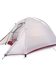 Недорогие -Naturehike 1 человек Туристические палатки На открытом воздухе С защитой от ветра Дожденепроницаемый Быстровысыхающий Двухслойные зонты Карниза Сферическая Палатка >3000 mm для Отдых и Туризм