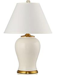 cheap -Artistic Decorative Table Lamp For Bedroom Ceramic White