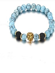 cheap -Men's Turquoise Chain Bracelet - Resin Vintage Bracelet Brown / Blue For Gift / Daily