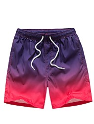cheap -Men's Normal Medium Waist Inelastic Straight Chinos Pants, Simple Color Block POLY Summer