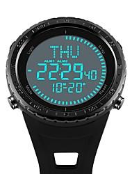 Недорогие -SKMEI Муж. Наручные часы электронные часы Цифровой Стеганная ПУ кожа Черный / Зеленый / Серый 50 m Защита от влаги Календарь Секундомер Цифровой Роскошь На каждый день Мода - Черный Серый Зеленый