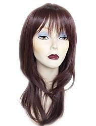 Недорогие -Парики из искусственных волос Прямой Стрижка каскад Искусственные волосы Природные волосы Красный Парик 13 см Без шапочки-основы