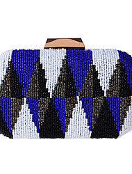 cheap -Bags Polyester Evening Bag Beading for Wedding Event/Party All Seasons Blue Orange Yellow