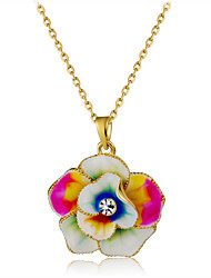 cheap -Women's Crystal Pendant Necklace  -  Crystal, Gold Plated Flower Fashion Rainbow Necklace One-piece Suit For Party, Formal
