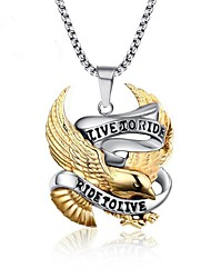 cheap -Men's Bird Stainless Steel Pendant Necklace  -  Vintage Gold Necklace For Gift Daily