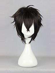 abordables -Pelucas de Cosplay Lolita Negro Clásico Peluca de Lolita  35cm CM Pelucas de Cosplay Un Color Pelucas Para