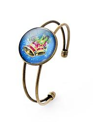 Недорогие -Муж. Жен. Браслет разомкнутое кольцо , металлический Богемные Стекло Сплав Круглый Бижутерия Повседневные Новый год Бижутерия Цвет радуги